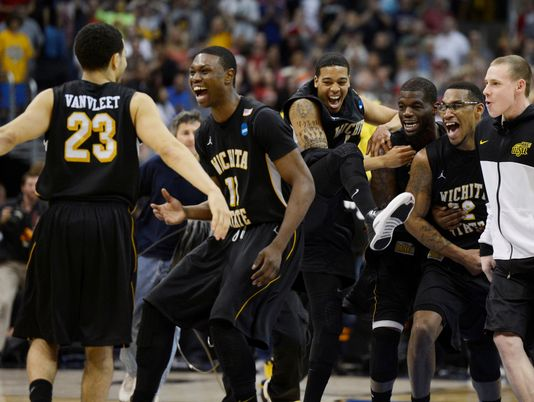 Wichita State beats Ohio State to get into the Final Four on March 30, 2013. (Photo by: Richard Mackson/ USA TODAY Sports)
