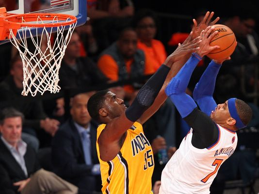Can New York Knicks forward Carmelo Anthony lead his team over the Pacers despite being down 3-2 in the series. (Photo by: Danny Wild/ USA TODAY Sports)