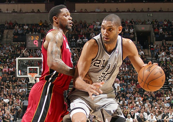 Can center Tim Duncan and the San Antonio Spurs respond in Game Five against the Miami Heat? (Photo uncredited but used by newsbasket-beafrika)