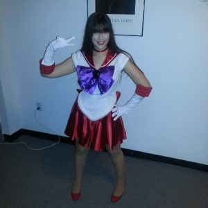 Sailor Mars from the Sailor Moon anime.