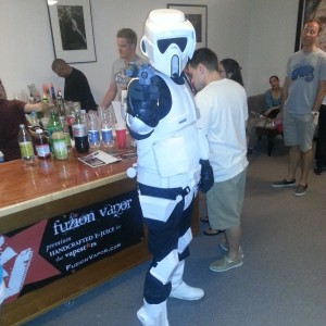 A stormtrooper from Star Wars.