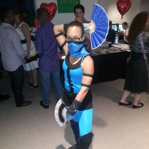 Kitana from Mortal Kombat.