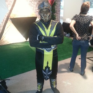 Scorpion from Mortal Kombat.