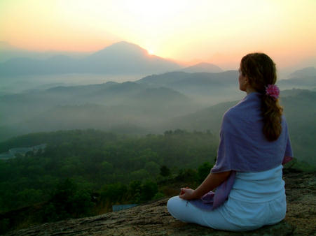 While not everyone has a beautiful mountain view on tap, finding a peaceful place can be helpful.
