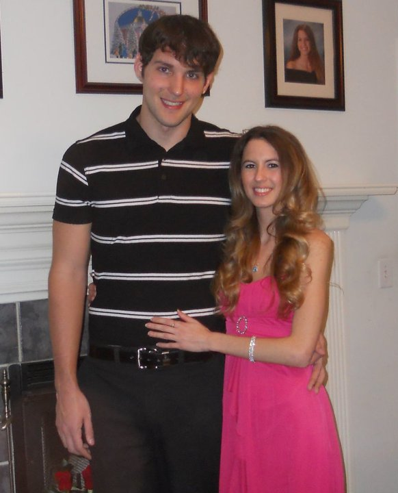 Jennifer and I in 2011. (Yes, I'm tall. 6-foot-6-inches, to be exact.)