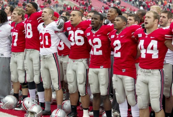 The Ohio State Buckeyes just came off of an undefeated season, but the stakes are much higher this time around. (Photo by: Greg Bartram/USA TODAY Sports)